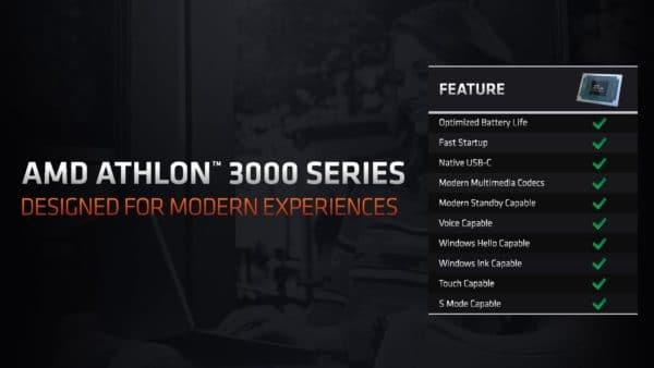 CES 2020 AMD processeurs Athlon Gold 3000