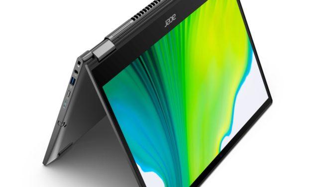 """<span class=""""tagtitre"""">CES 2020 - </span>Acer Spin 3 et Spin 5, Ultrabook 2-en-1 Tablette 2K Ice Lake autonomie 15h"""