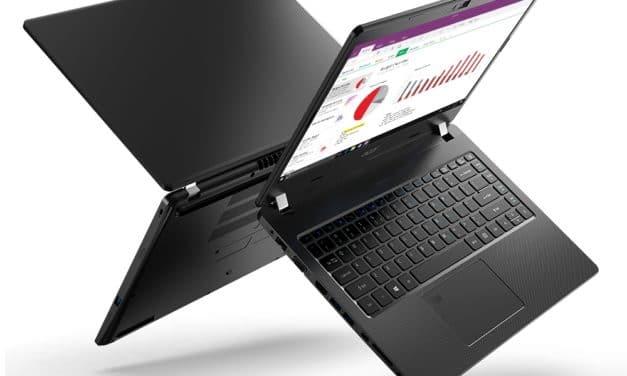 """<span class=""""tagtitre"""">CES 2020 - </span>Acer TravelMate P2 et P6, Ultrabooks 15"""" et 14"""" Athena Comet Lake 4G 23h"""
