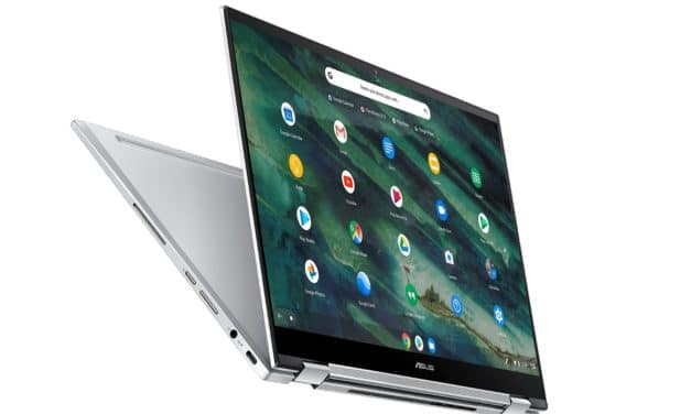 "<span class=""tagtitre"">CES 2020 - </span>Asus Chromebook Flip C436, PC portable 14"" tactile Tablette Comet Lake Chrome OS performant et élégant"