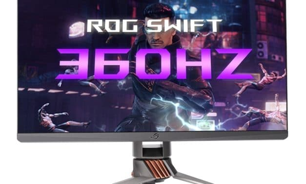 """<span class=""""tagtitre"""">CES 2020 - </span>Asus ROG Swift 360, écran externe 360Hz G-Sync pour gamers"""