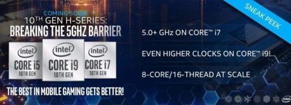 CES 2020 Intel Comet Lake-H