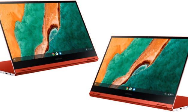 """<span class=""""tagtitre"""">CES 2020 - </span>Samsung Galaxy Chromebook 2-en-1 Tablette coloré très fin, 1er Chromebook 4K AMOLED et Comet Lake"""