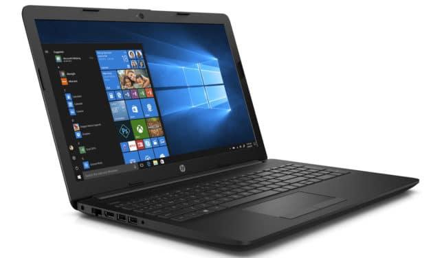 """HP 15-da1033nf, PC portable 15"""" noir Quad Core i5 léger gros stockage (499€)"""
