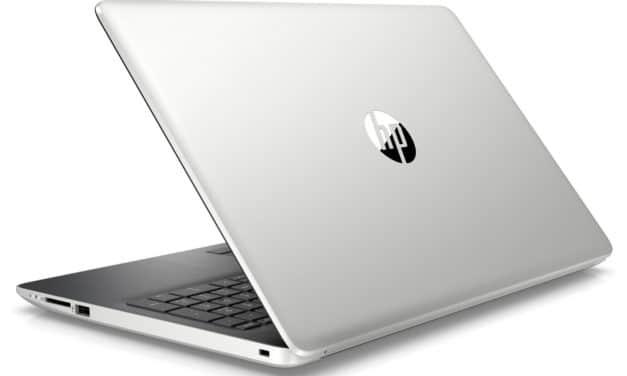 """<span class=""""nouveau"""">Nouveau 549€</span> HP 15-db1006nf, PC portable 15"""" polyvalent rapide et léger SSD et CD/DVD"""