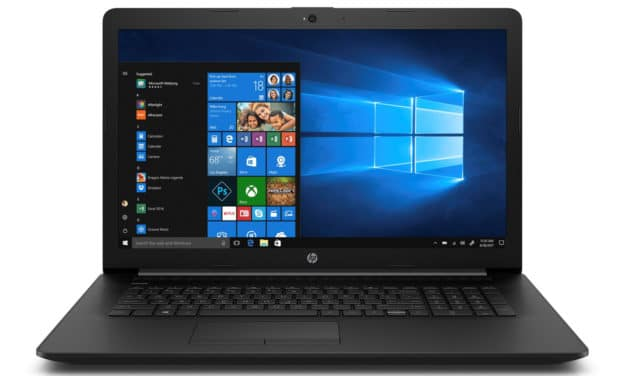 "<span class=""promo"">Promo 719€</span> HP 17-by1022nf, PC portable 17"" noir polyvalent léger gros stockage CD/DVD"