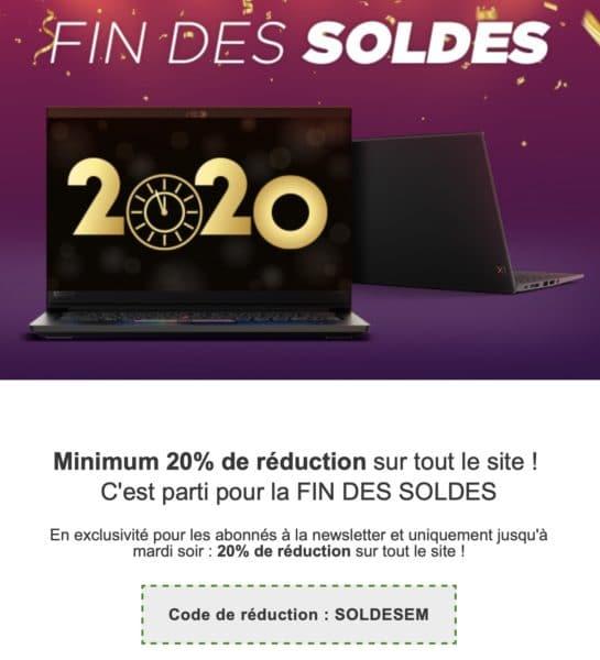 Bon Plan 20 De Remise Minimum Sur Tout Le Store Lenovo Pour La Fin Des Soldes Laptopspirit