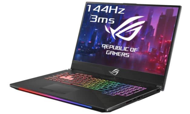 "Asus ROG Scar G715GW-EV053T, 17"" jeu intensif RTX 2070 et 144Hz (1599€)"