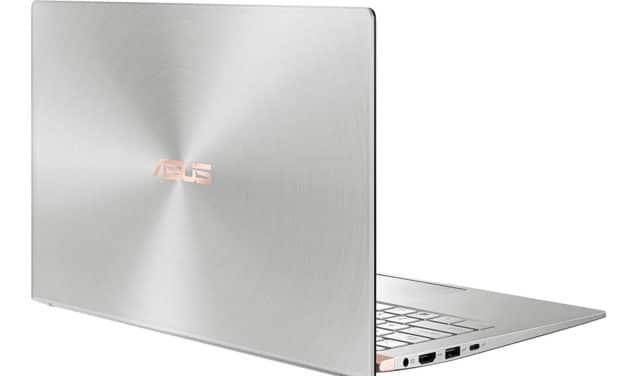 """<span class=""""promo"""">Promo 799€</span> Asus Zenbook UM433DA-A5015T, 14 pouces léger et élégant avec pavé numérique"""