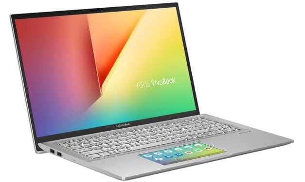 "Asus Vivobook S532FA-BQ199T, Ultrabook 15"" argent SSD Optane ScreenPad léger (999€)"