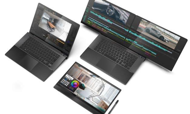 Compal Duo360 (X), FullVision, Envision Lite, PC portables originaux double écran + clavier physique