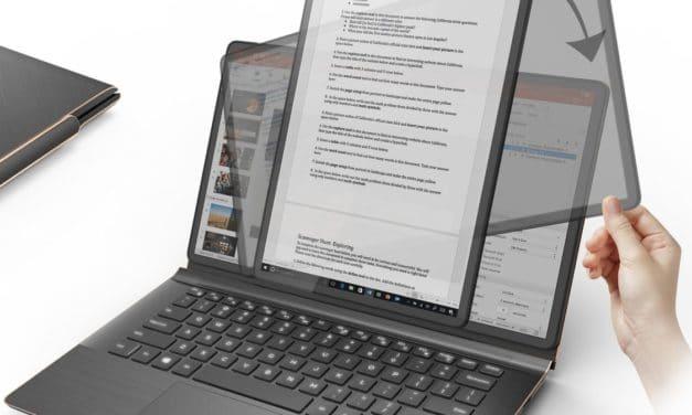 Compal PivoBook, un ordinateur portable léger avec écran OLED tactile qui pivote à 90°