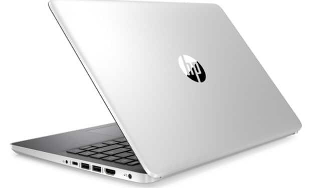 "HP 14s-dq0015nf, Ultrabook 14"" argent/noir SSD rapide fin et léger (429€)"