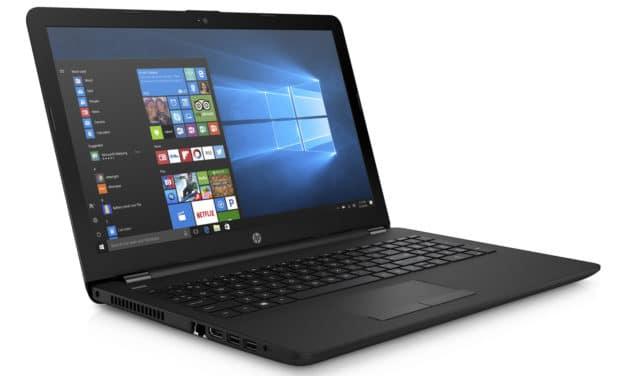 HP 15-db0021nf, 15 pouces noir bureautique pas cher (314€)