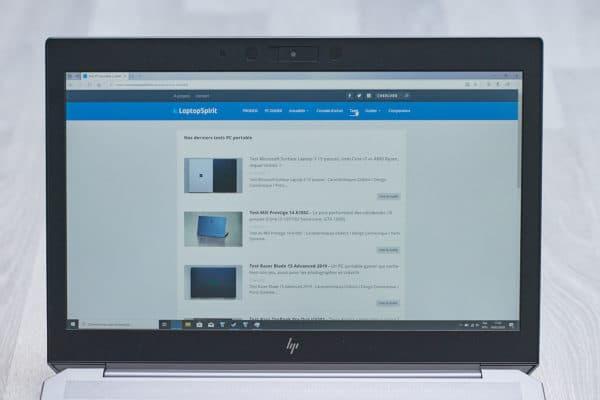Test HP Zbook G6 15 pouces
