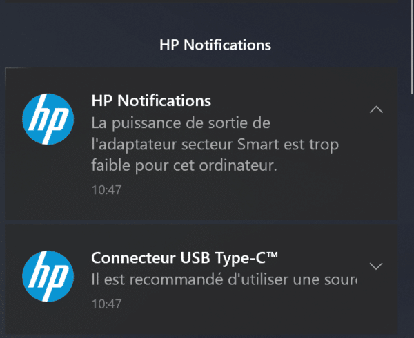 Test HP Zbook G6 15 pouces - Charge USB-C