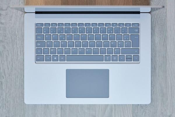Test Microsoft Surface Laptop 3 15 pouces - Clavier