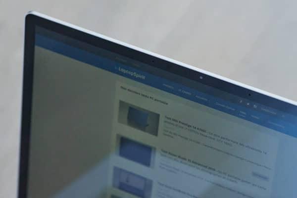 Test Microsoft Surface Laptop 3 15 pouces - Windows Hello