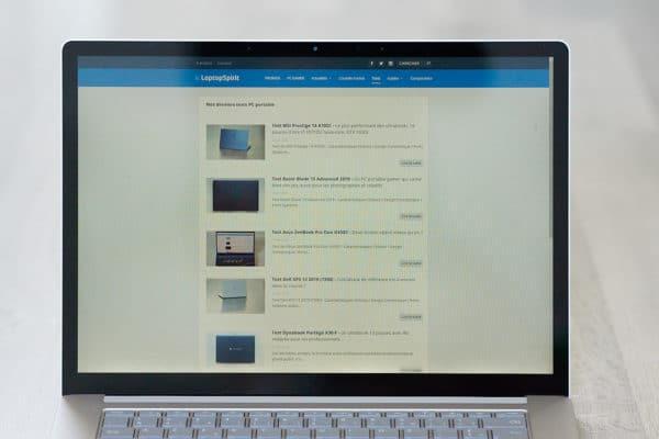 Test Microsoft Surface Laptop 3 15 pouces - Ecran