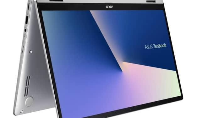 """<span class=""""nouveau"""">Nouveau 699€</span> Asus Zenbook Flip UM462DA-AI038T, 14 pouces tablette rapide, bonne autonomie"""