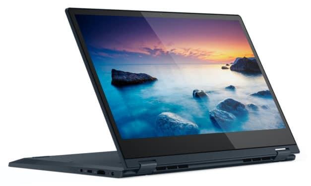 """<span class=""""nouveau"""">Nouveau 799€</span> Lenovo IdeaPad C340-14IML, 14 pouces bleu convertible tablette"""
