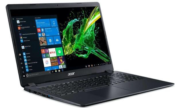 Acer Aspire A315-54K-553Y, 15 pouces bureautique réactif (499€)