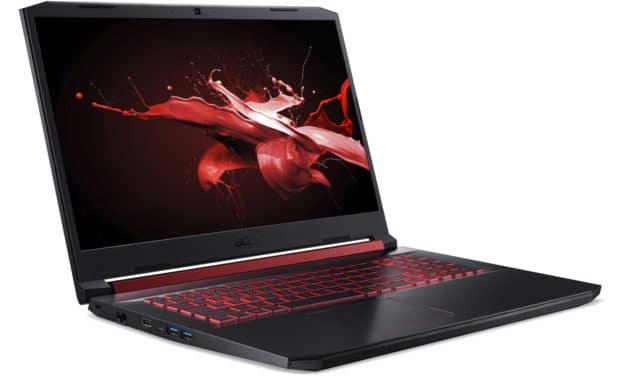 """Acer Nitro 5 AN517-51-5304, PC portable 17"""" 120Hz polyvalent créatif jeux GTX 1650 (849€)"""
