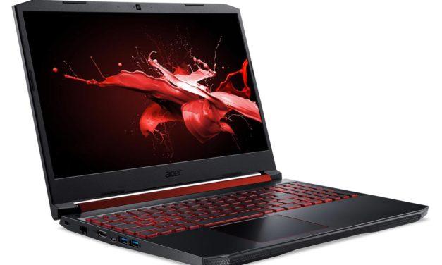 Acer Nitro AN515-54-72JS, 15 pouces gamer et polyvalent 120Hz (1049€)