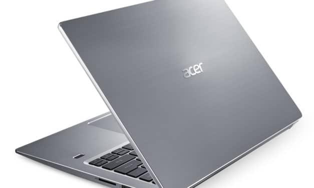 """Acer Swift 3 SF314-41-R4F1, PC portable 14"""" argent 8h léger et rapide avec SSD (549€)"""