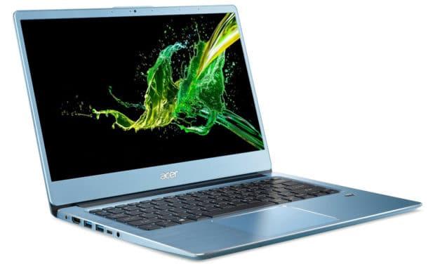 """Acer Swift 3 SF314-41-R5HX, Ultrabook 14"""" bleu rapide fin et léger nomade 8h (499€)"""