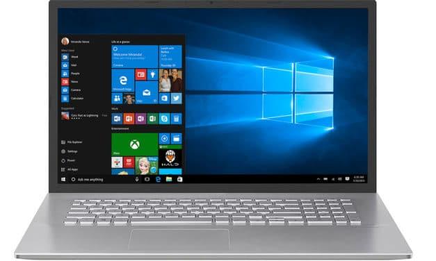 """Asus P1701FA-AU676R, PC portable 17"""" argent rapide fin et léger sous Windows 10 Pro (739€)"""