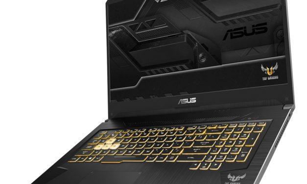 Asus TUF 705DT-H7116T, PC portable 17 pouces joueur Ryzen et GTX 1650 (827€)