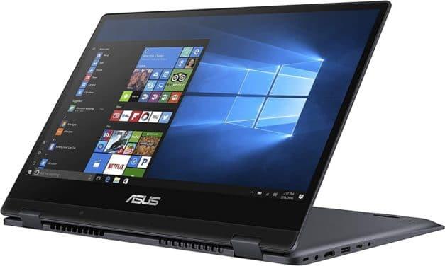 """<span class=""""nouveau"""">Nouveau 649€</span> Asus Vivobook TP412FA-EC452T, Ultrabook 14"""" argent tactile Tablette rapide et léger"""