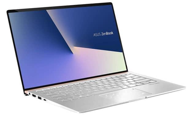 """Asus ZenBook UX433FAC-A5290R, Ultrabook 14"""" argent Pro fin très léger et rapide NumPad 10h (999€)"""