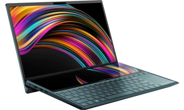 """Asus Zenbook Duo UX481FA-HJ060T, Ultrabook 14"""" 2 écrans 9h léger rapide ScreenPad tactile (1109€)"""