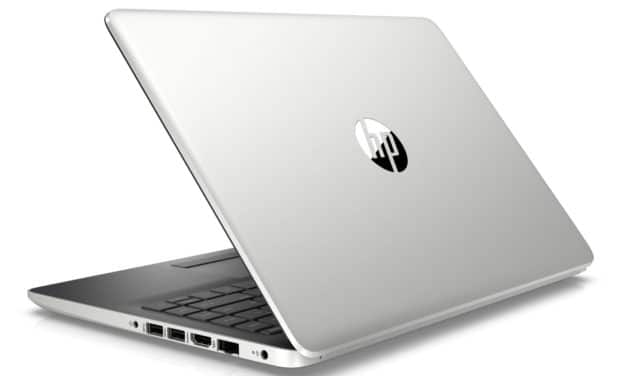 "HP 14-cf0022nf, Ultrabook 14"" argent/noir fin, léger, rapide et pas cher (379€)"