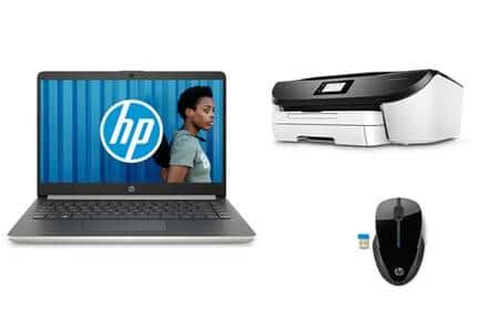 """HP 14-dk0035nf, PC portable 14"""" argent rapide fin et léger + pack Télétravail (479€)"""