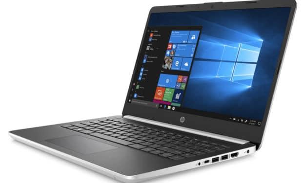 """HP 14s-dq0001nf, Ultrabook 14"""" argent noir léger, rapide et pas cher (429€)"""