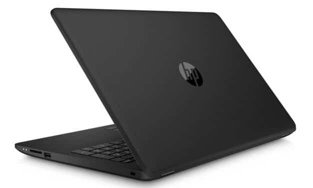 HP 15-da0148nf, PC portable 15 pouces noir bureautique pas cher (319€)
