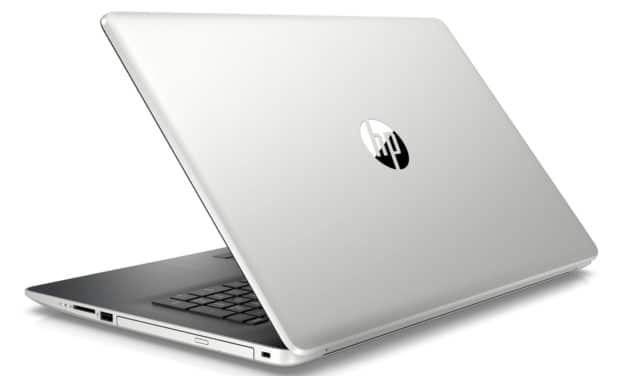 "HP 17-by0091nf, PC portable 17"" pas cher argent/noir rapide CD/DVD gros stockage (449€)"