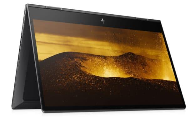 """HP Envy x360 15-ds0017nf, PC portable 15"""" tactile Tablette polyvalent noir rapide grosse RAM 8h (1199€)"""