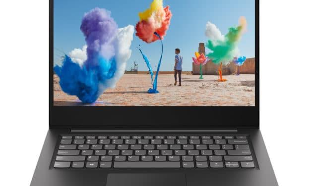 """Lenovo IdeaPad S145-14IGM (81MW003FFR), PC portable 14"""" noir pas cher fin léger et rapide (349€)"""