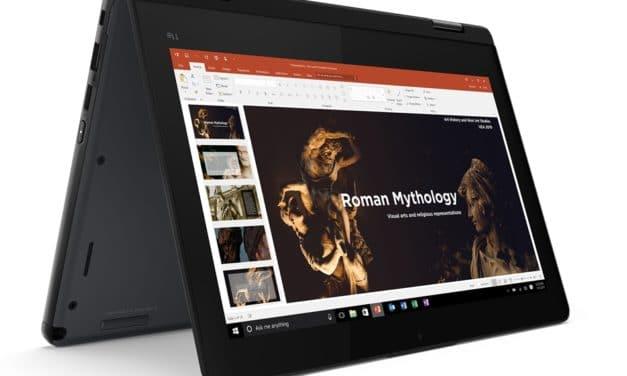 Lenovo ThinkPad 11e Yoga 6ème Gen, ultraportable 11 pouces tactile > Tablette Amber Lake pour les élèves
