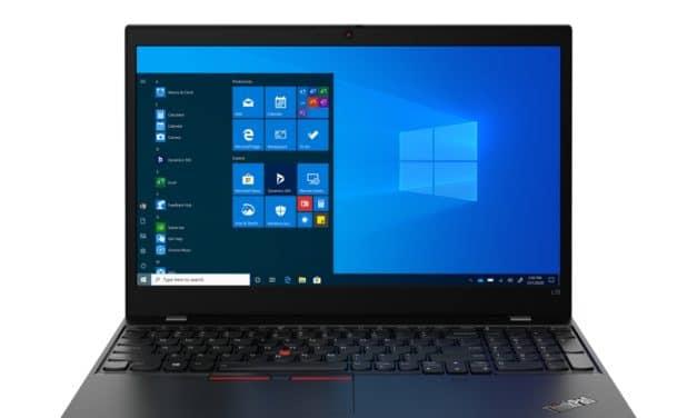 """Lenovo ThinkPad L14 et L15, PC portables 14"""" et 15"""" Pro rapides Renoir Comet Lake fins et légers"""