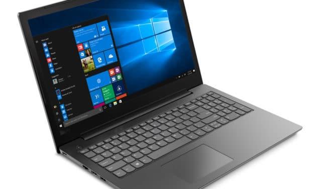 "Lenovo V130-15IKB (81HN00P6FR), PC portable 15"" noir léger et réactif avec CD/DVD (484€)"