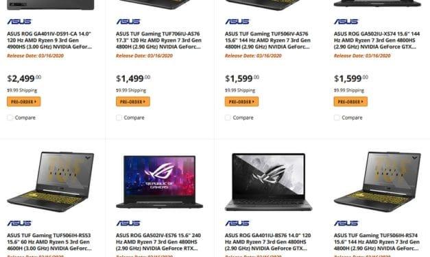 """<span class=""""tagtitre"""">Renoir - </span>tarifs et dates de sortie de PC portables Asus avec processeur AMD Ryzen 4000"""