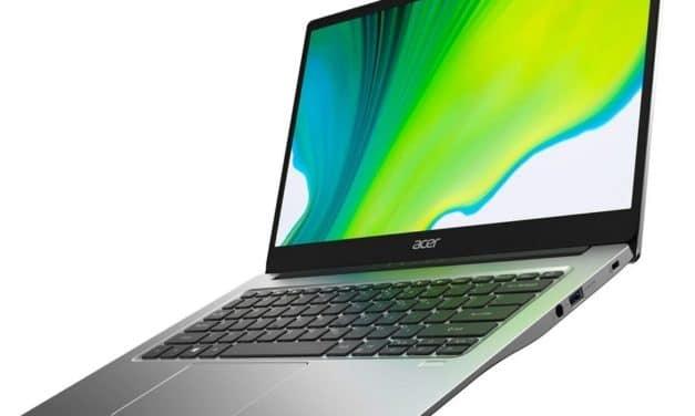 Acer Aspire 5 A515-44, nouvel ordinateur portable fin et léger 10h avec processeur AMD Renoir Octo Core