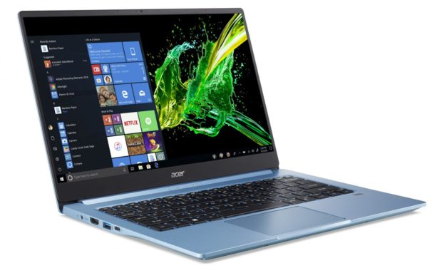"Acer Swift SF314-57G-75XP, ultrabook bleu 14"" multimédia avec MX350 (999€)"