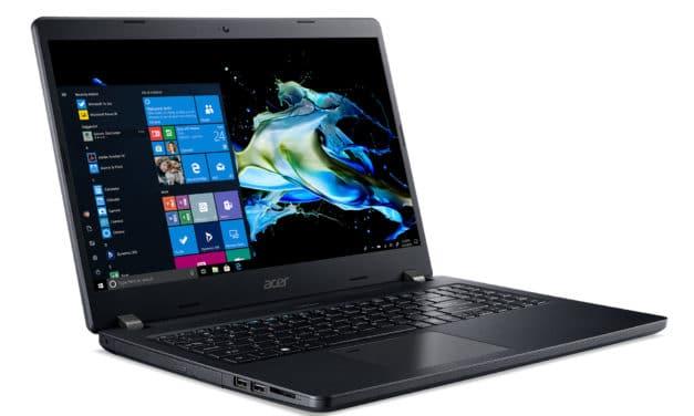 "Acer TravelMate P2 P215-52-53P4, Ultrabook 15"" noir Pro fin rapide léger Wi-Fi ax nomade 8h (899€)"
