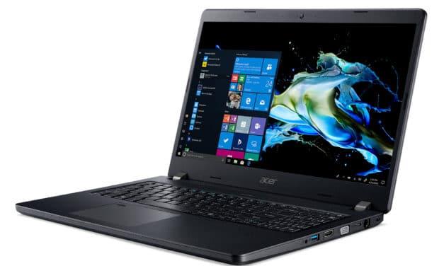 "Acer TravelMate P2 P215-52-73MV, Ultrabook 15"" Pro noir nomade 8h léger fin rapide Wi-Fi ax (1099€)"
